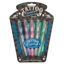 Tattoostifte Tattoopens  Tattoo Gelstifte Metallic + Schablone
